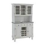 DMI Furniture, Inc. -  Premium Hutch and Buffet with Gray Granite Top in White 0095385806453