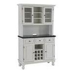 DMI Furniture, Inc. -  Premium Hutch and Buffet with Black Granite Top in White 0095385806477