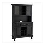 DMI Furniture, Inc. -  Premium Hutch and Buffet with Wood Top in Black 0095385806514