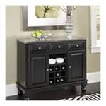 DMI Furniture, Inc. -  Premium Buffet with Stainless Steel Top in Black 0095385806521
