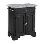 DMI Furniture, Inc. -  Premium Cuisine Cart with Gray Granite Top in Black 0095385807030