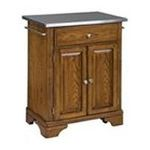 DMI Furniture, Inc. -  Home Styles Premium Oak Cuisine Cart with Stainless Steel Top 0095385807078