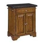 DMI Furniture, Inc. -  Kitchen Cart with Salmon Granite Top on Oak Cabinet 0095385807108