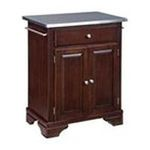 DMI Furniture, Inc. -  Home Styles Premium Cherry Cuisine Cart with Stainless Steel Top 0095385807122