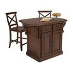 DMI Furniture, Inc. -  Traditions Kitchen Island and Stool Set in Cherry 0095385807283