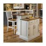 DMI Furniture, Inc. -  Woodbridge Two Tier Kitchen Island in White 0095385810788