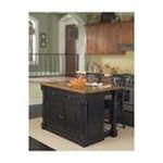 DMI Furniture, Inc. -  Monarch Black Slide Out Leg Wood Top Kitchen Island Set 0095385813024