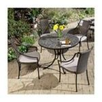 DMI Furniture, Inc. -  Home Styles Stone Harbor 5-Pc. Dining Set, Includes Stone Harbor Table & 4 Laguna Slope Arm Chairs, Black & Slate, 39-1/2 in. W x 39-1/2 in. D x 30 in. H 0095385813277