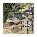 DMI Furniture, Inc. -  Home Styles Stone Harbor 5-Pc. Dining Set, Includes Stone Harbor Table & 4 Cambria Slope Arm Chairs, Black & Slate, 39-1/2 in. W x 39-1/2 in. D x 30 in. H 0095385813291