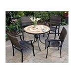 DMI Furniture, Inc. -  Home Styles Terra Cotta 3-Pc. Bistro Set, Includes Terra Cotta Bistro Table & 2 Laguna Slope Arm Chairs, 27-1/2 in. W x 27-1/2 in. D x 30 in. H 0095385813550
