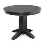 DMI Furniture, Inc. -  Home Styles Round Dining Table - Round - 58 x 30.0 - Hardwood, Engineered Wood, Medium Density Fiber (MDF) - Black 0095385817237