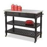 DMI Furniture, Inc. -  Savannah Black Kitchen Cart 0095385817251