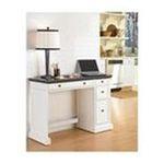 DMI Furniture, Inc. -  Home Styles Utility Desk - Rectangle - 4 Drawers - 46.75 x 17 x 30.0 - Hardwood - White Base, Granite Black Top 0095385817732