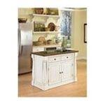 DMI Furniture, Inc. -  Monarch Kitchen Island with Granite Top - Antique White Sanded Distressed Finish 0095385817886
