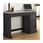 DMI Furniture, Inc. -  Home Styles Utility Desk with Wood Top - Rectangle - 3 Drawers - 43.75 x 17 x 30.0 - Wood, Hardwood - Black 0095385818111