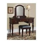 DMI Furniture, Inc. -  Lafayette Vanity & Bench - Cherry 0095385818241