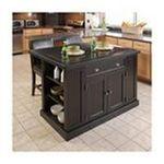DMI Furniture, Inc. -  Nantucket Distressed Black Finish Kitchen Island 0095385822828
