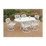 DMI Furniture, Inc. -  Home Styles 5552-335 Biscayne 7PC Dining Set 72 in. Oval Table with Six Swivel Chairs 0095385824204