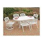 DMI Furniture, Inc. -  Home Styles 5552-3358 Biscayne 7PC Dining Set 72 in. Oval Table with Two Swivel Chairs & Four Arm Chairs 0095385824228