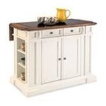 DMI Furniture, Inc. -  Home Styles White and Distressed Oak Deluxe Traditions Kitchen Island 0095385828646