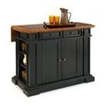 DMI Furniture, Inc. -  Home Styles Black and Distressed Oak Deluxe Traditions Kitchen Island 0095385828677
