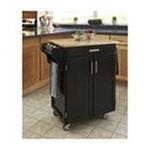 DMI Furniture, Inc. -  Cuisine Cart - Finish: Black, Top Finish: Marble 0095385838690