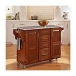 DMI Furniture, Inc. -  Warm Oak Finish with Marble Top Create-a-Cart 0095385838942