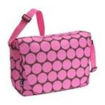 Wildkin -  Wildkin Carrying Case (Messenger) for 17 Notebook - Big Dots Pink - Fabric 0097277380850