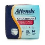 Attends -  Underwear Super Plus With Leakage Barriers Extra Large 58-68in 210 250 lb 0186679250332