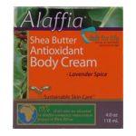 Alaffia - Shea Butter Antioxidant Body Cream Lavender Spice 0187132001911  / UPC 187132001911