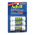 Advil - Pain Reliever Fever Reducer 200 mg, 3 - 10 tablet vials,1 count 0305730151139  / UPC 305730151139