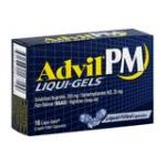 Advil - Pain Reliever Nighttime Sleep-aid Pm Liqui-gels 16 0305730167109  / UPC 305730167109