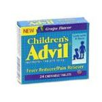 Advil - Fever Reducer Pain Reliever 50 mg, 24 chewable tablet,1 count 0305730177108  / UPC 305730177108
