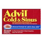 Advil - Cold & Sinus 20 caplets 0305730180108  / UPC 305730180108
