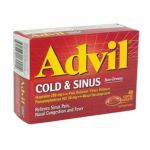 Advil - Cold & Sinus 40 caplets 0305730180214  / UPC 305730180214