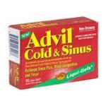 Advil - Cold & Sinus 16 capsule 0305730184168  / UPC 305730184168