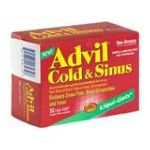 Advil - Cold & Sinus 32 liqui-gels 0305730184328  / UPC 305730184328