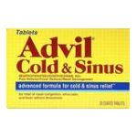 Advil - Cold & Sinus 20 coated tablet 0305730185103  / UPC 305730185103