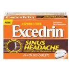 Excedrin -  Pain Reliever Nasal Decongestant 24 caplets 0319810302687
