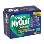 Vicks - Multi-symptom Cold Flu Relief 40 softgels 0323900005655  / UPC 323900005655