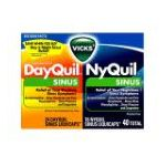 Vicks - Dayquil And Nyquil Sinus Liquicaps Combo Pack 40 liquicaps 0323900007536  / UPC 323900007536