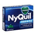 Vicks - Nyquil Cold & Flu Multi-symptom Relief Liquicaps 20 liquicaps 0323900007741  / UPC 323900007741