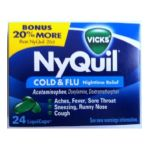 Vicks - Vicks Nyquil Cold & Flu Nighttime Relief 24 Liquicaps 0323900010864  / UPC 323900010864