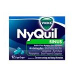 Vicks - Nyquil Sinus Nighttime Relief Liquicaps 12 each 0323900011298  / UPC 323900011298