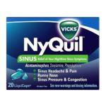 Vicks - Nyquil Sinus Nighttime Relief Liquicaps 20 liquicaps 0323900011304  / UPC 323900011304