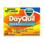 Vicks - Case Of Dayquil Nondrowsy Cold & Flu Multisymptom Relief 24 ea 0323900013476  / UPC 323900013476