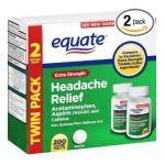 Equate -  Equate Headache Relief Extra Strength Acetaminophen Aspirin And Caffeine Coated Tablets 0350844159908
