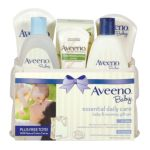 Aveeno -  Aveeno Baby Gift Set Daily Care Essentials Basket Baby And Mommy Gift Set 0381371016761