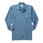 Williamson Dickie -  Dickies | Dickies Men's Long Sleeve Chambray Shirt 0607645070926