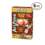 Arizona - Peach Iced Tea Iced Tea Stix Sugar Free Boxes 0613008724191  / UPC 613008724191